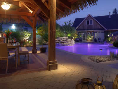 Landscape Lighting - Oakville Landscaping by Let's Landscape Together